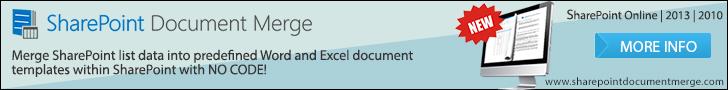 SharePoint Document Merge